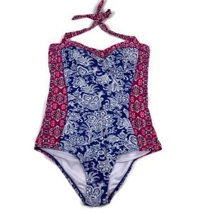 Adore Me One Piece Halter Paisley Bathing Suit